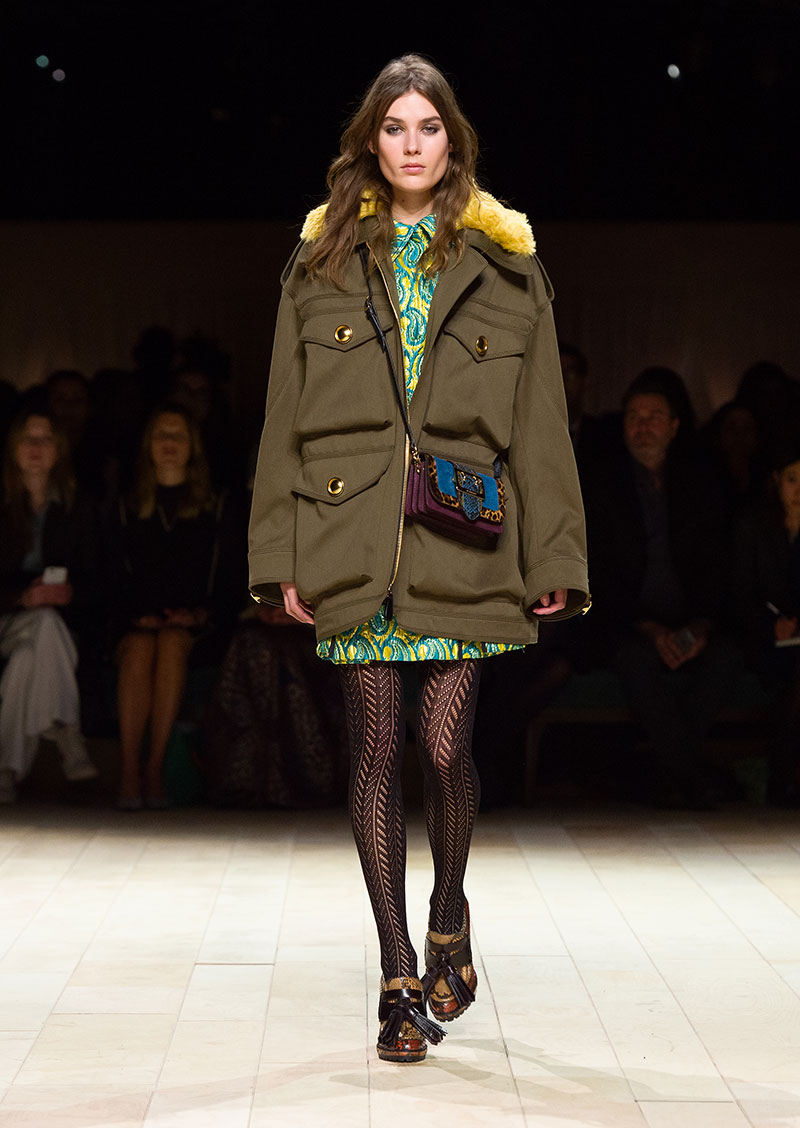 Parka di Burberry autunno inverno 2016 2017, photo: Burberry