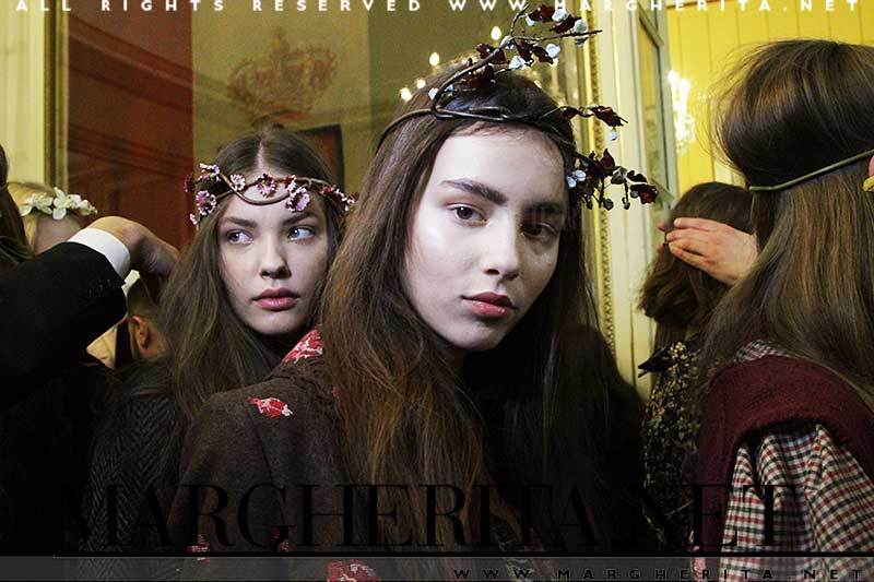 Backstage Luisa Beccaria Autunno Inverno 2017 2018 - Foto Charlotte Mesman