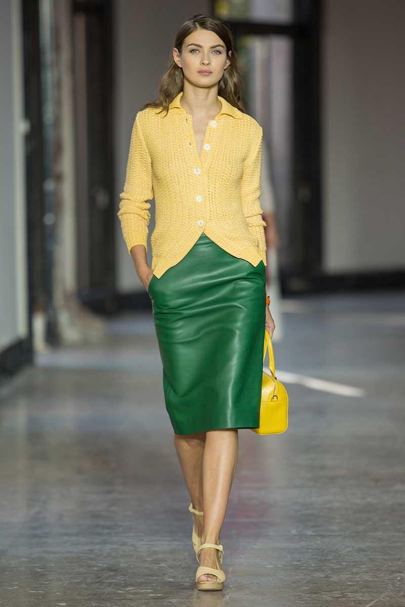 Il verde abbinato al giallo. Photo: courtesy of Agnes B.