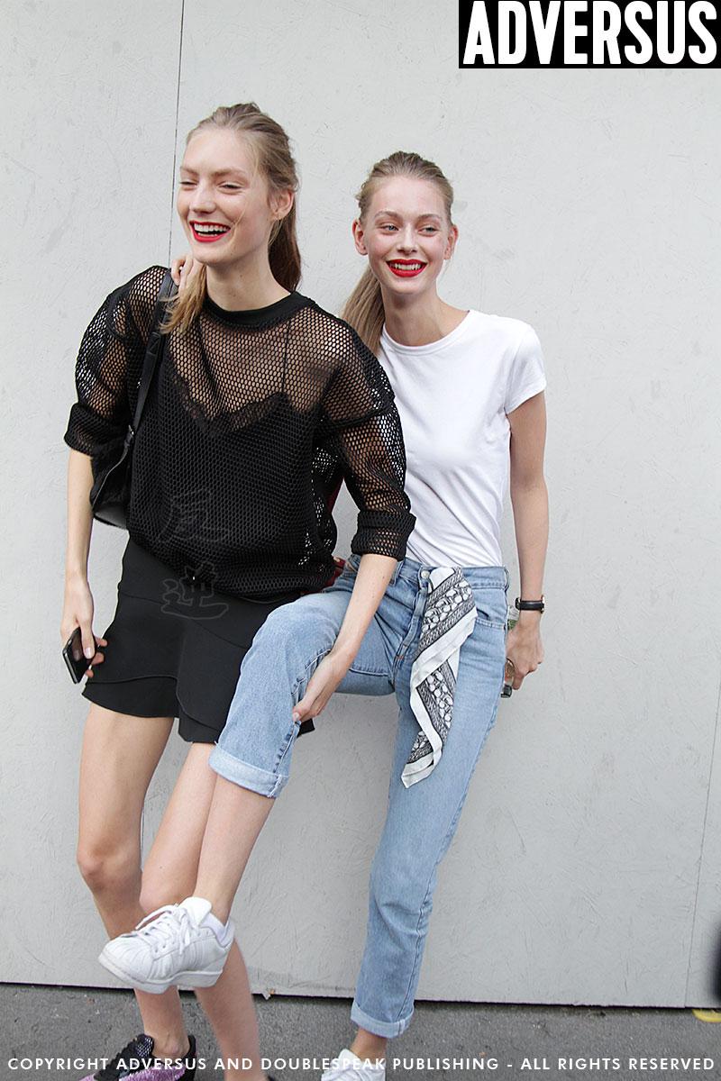 Modelle durante la Milan Fashion Week SS 2017