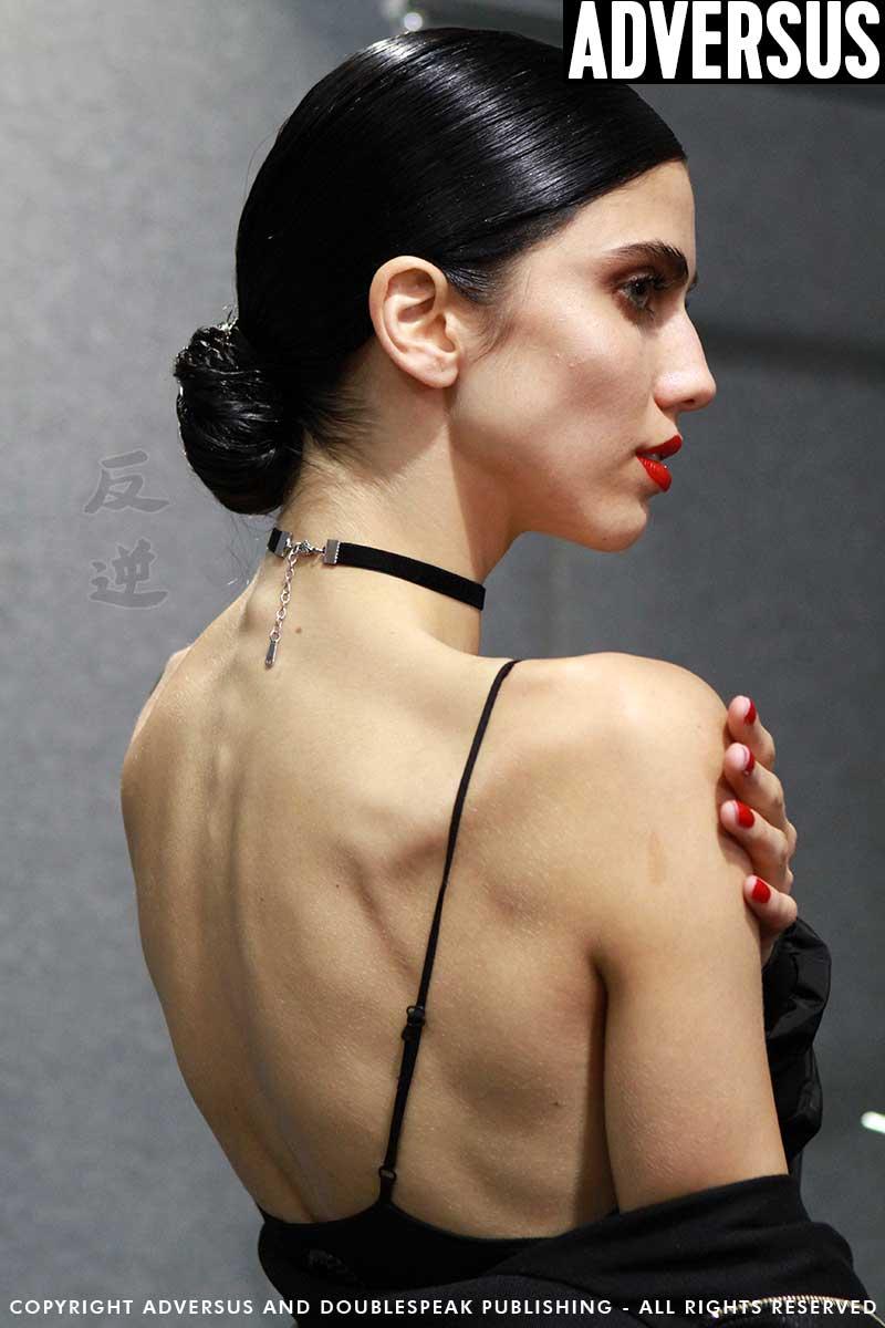 Diana Galimullina backstage da Elisabetta Franchi, ph. Mauro Pilotto