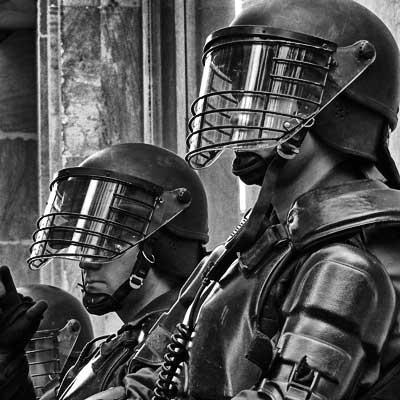 La polizia militarizzata