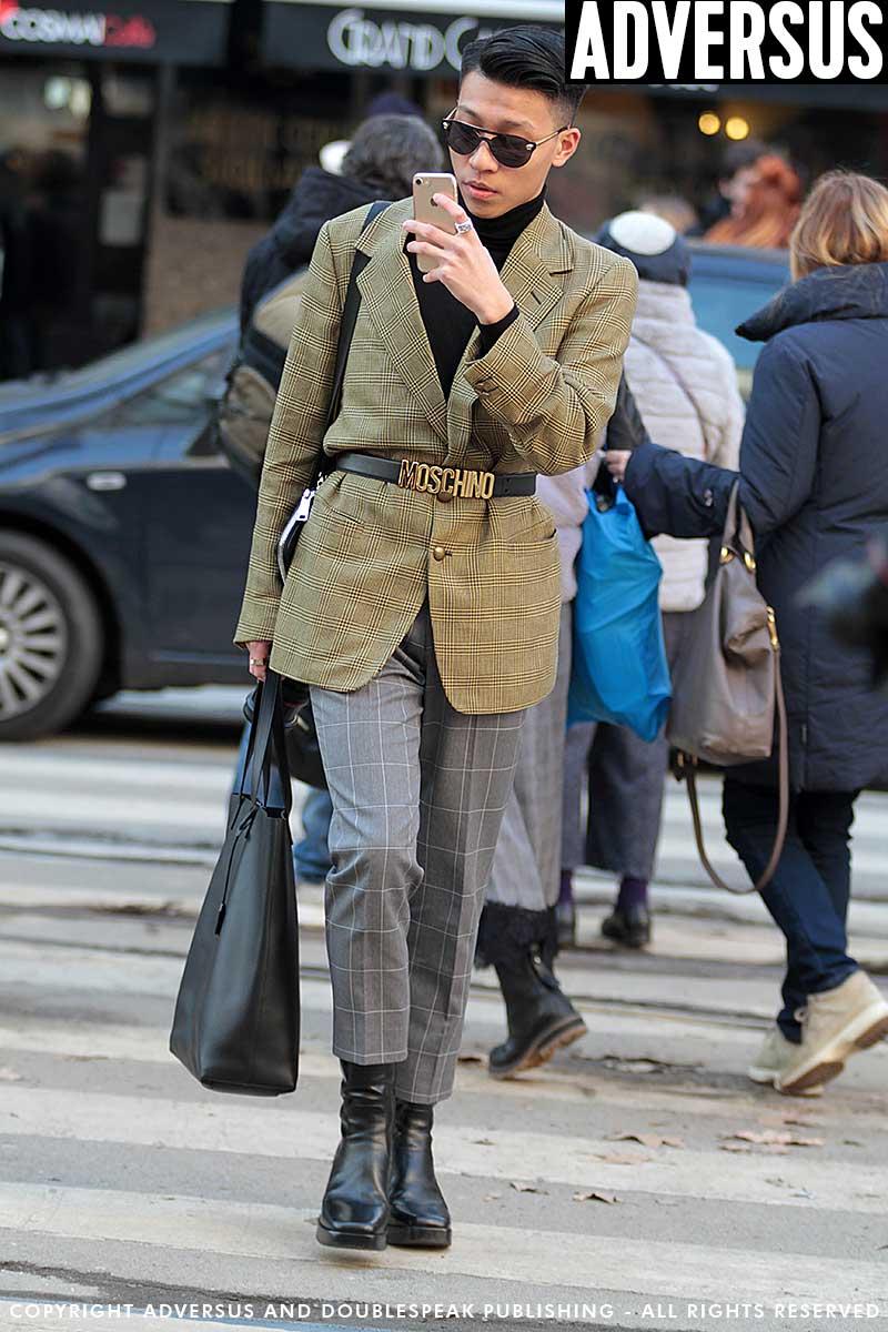 Tendenze moda uomo. Street style foto