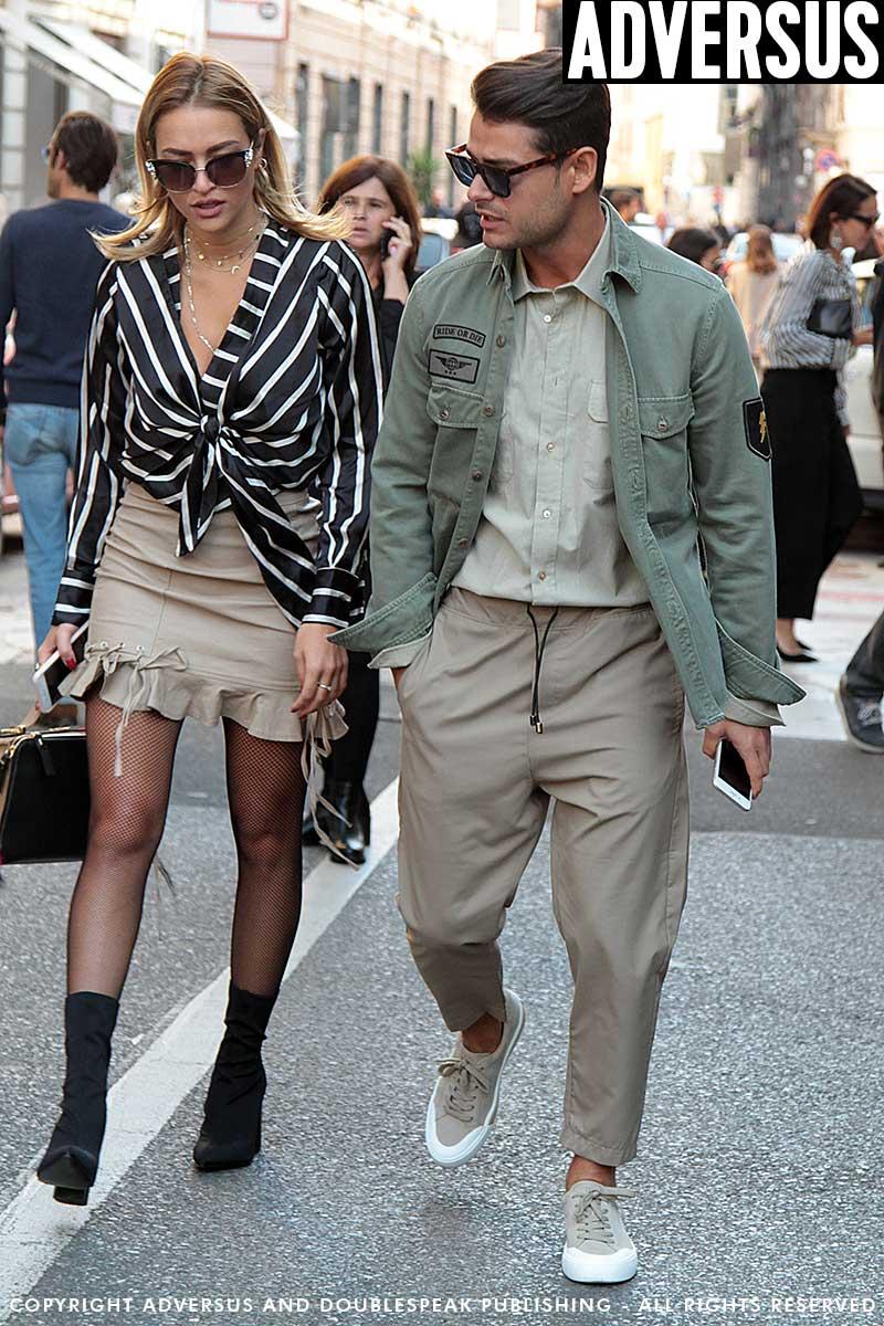 Street style moda uomo estate 2018. Trendy in color kaki