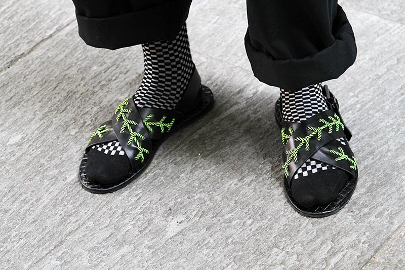 Tendenze scarpe uomo durante la Fashion Week estate 2019
