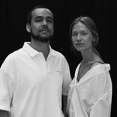 Luigi Junior Juliani e Mariia Radkovska (moglie di Luigi Junior) modella scouter per Wonderwall. Foto Andrea Squeo @squeeeo