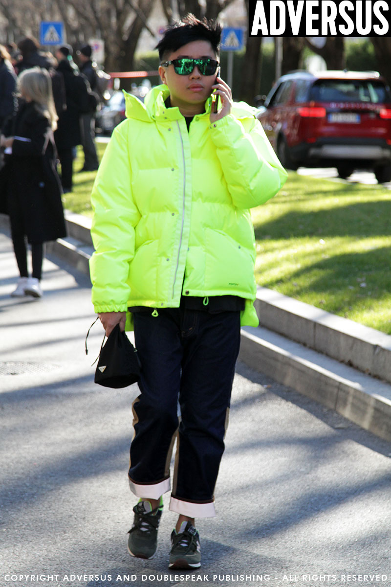 Streetstyle uomo 2019. Colori neon