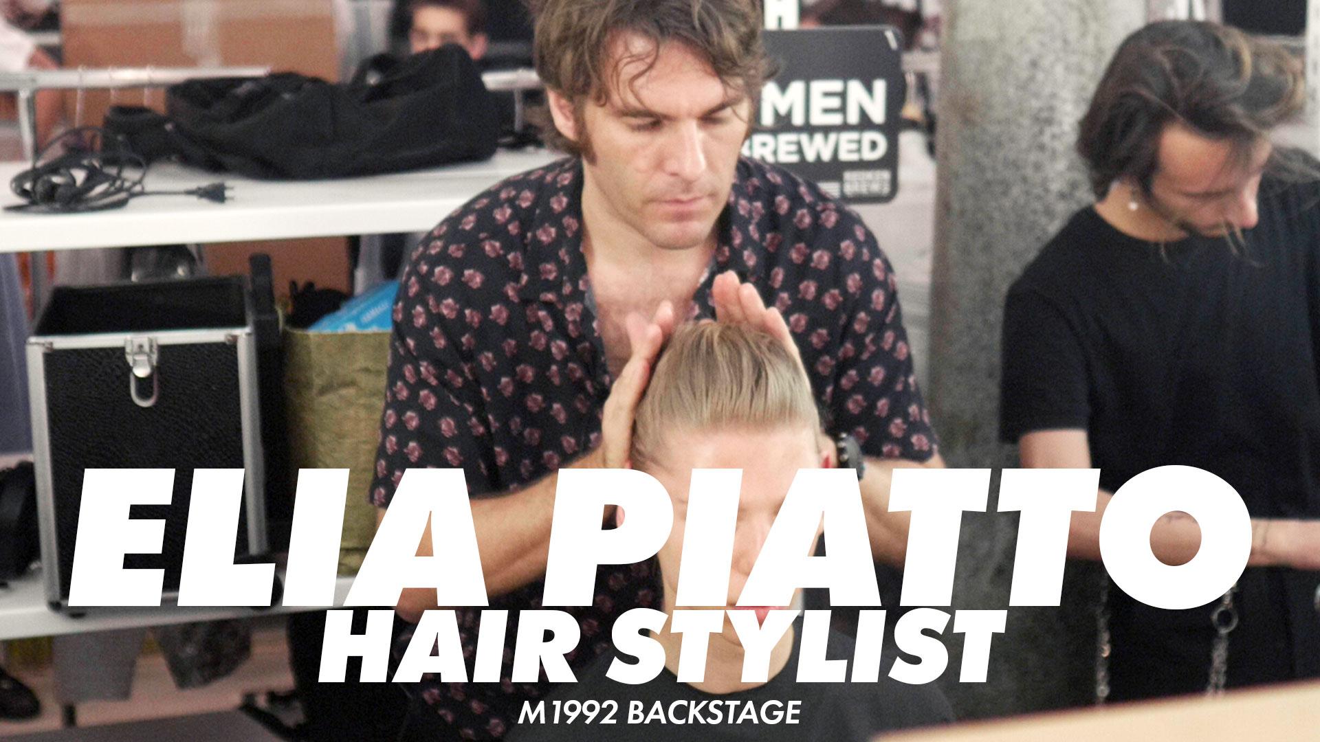 Capelli lunghi uomo. Come pettinarli per un look stile anni '50 con Elia Piatto, Hair Stylist