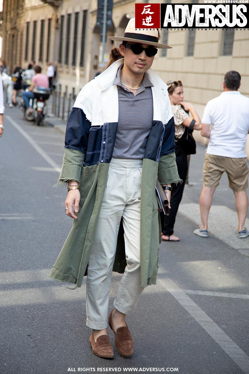 Streetstyle estate 2019 (durante la Milano Fashion Week estate 2020). Foto: Charlotte Mesman