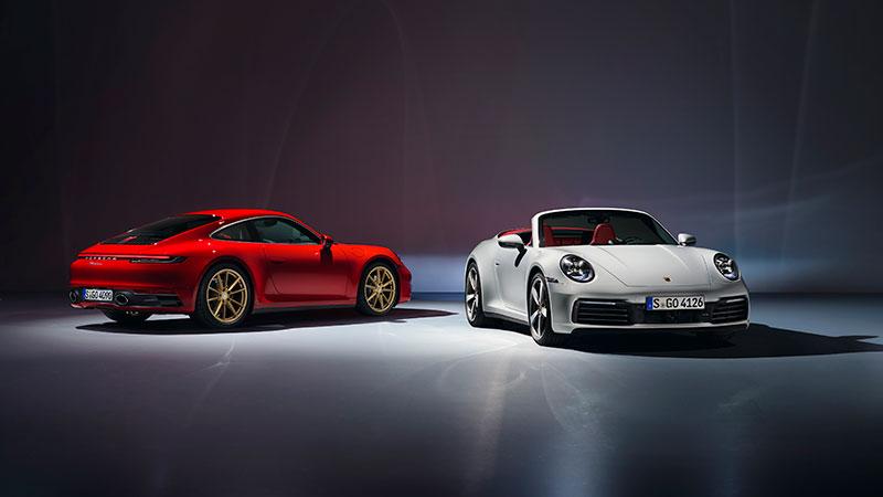 Porsche presenta i nuovi modelli 911 Carrera Coupé e 911 Carrera Cabriolet
