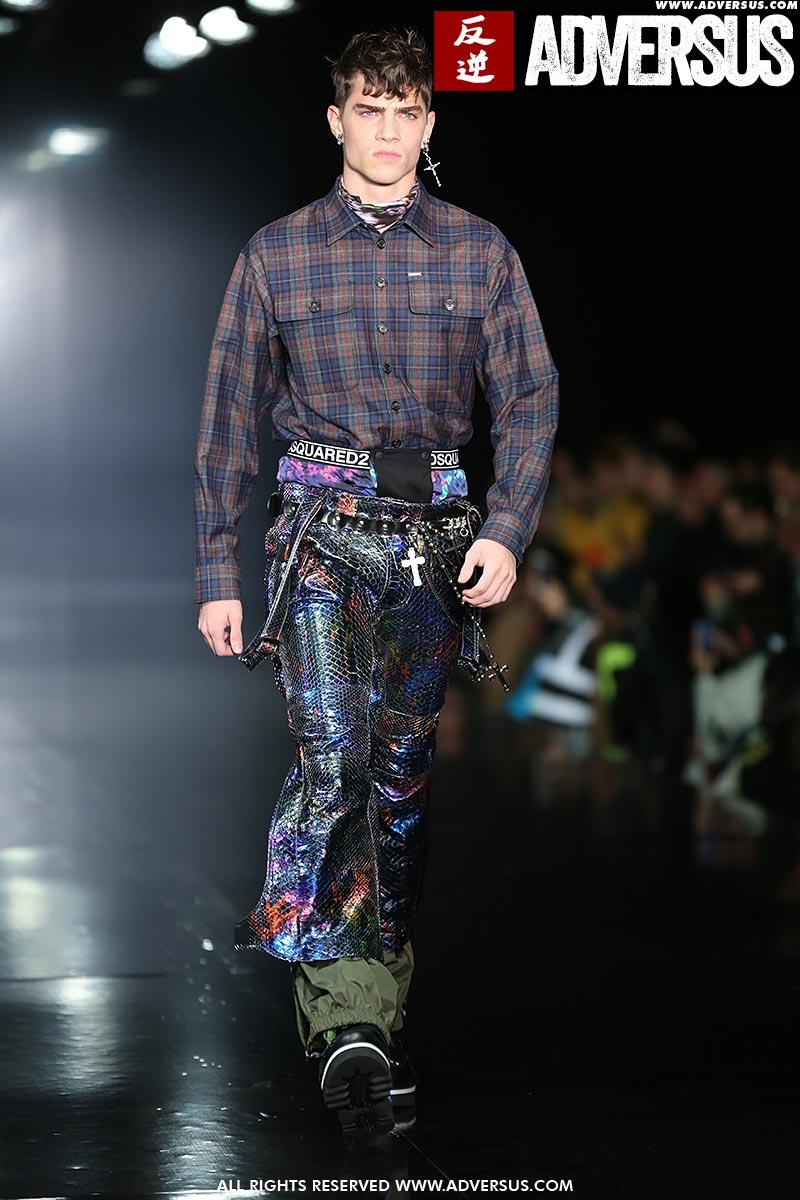 Tendenze moda uomo autunno inverno 2019 2020. Sfilata: Dsquared2. Foto: Mauro Pilotto