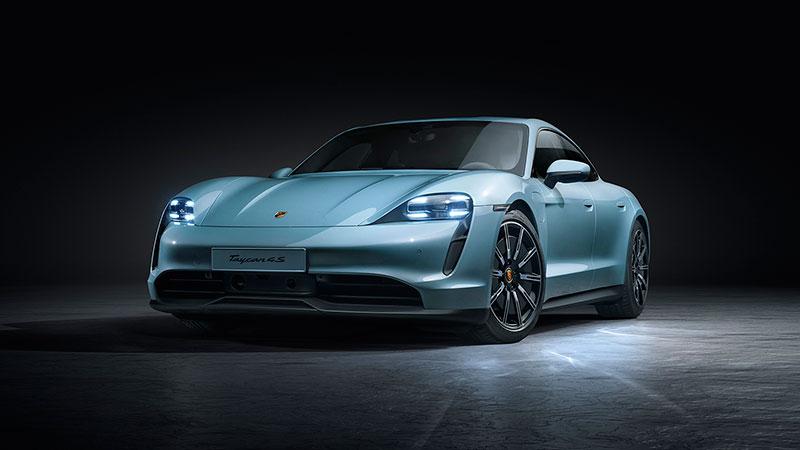 Porsche amplia la gamma di sportive a trazione elettrica con la Taycan 4S