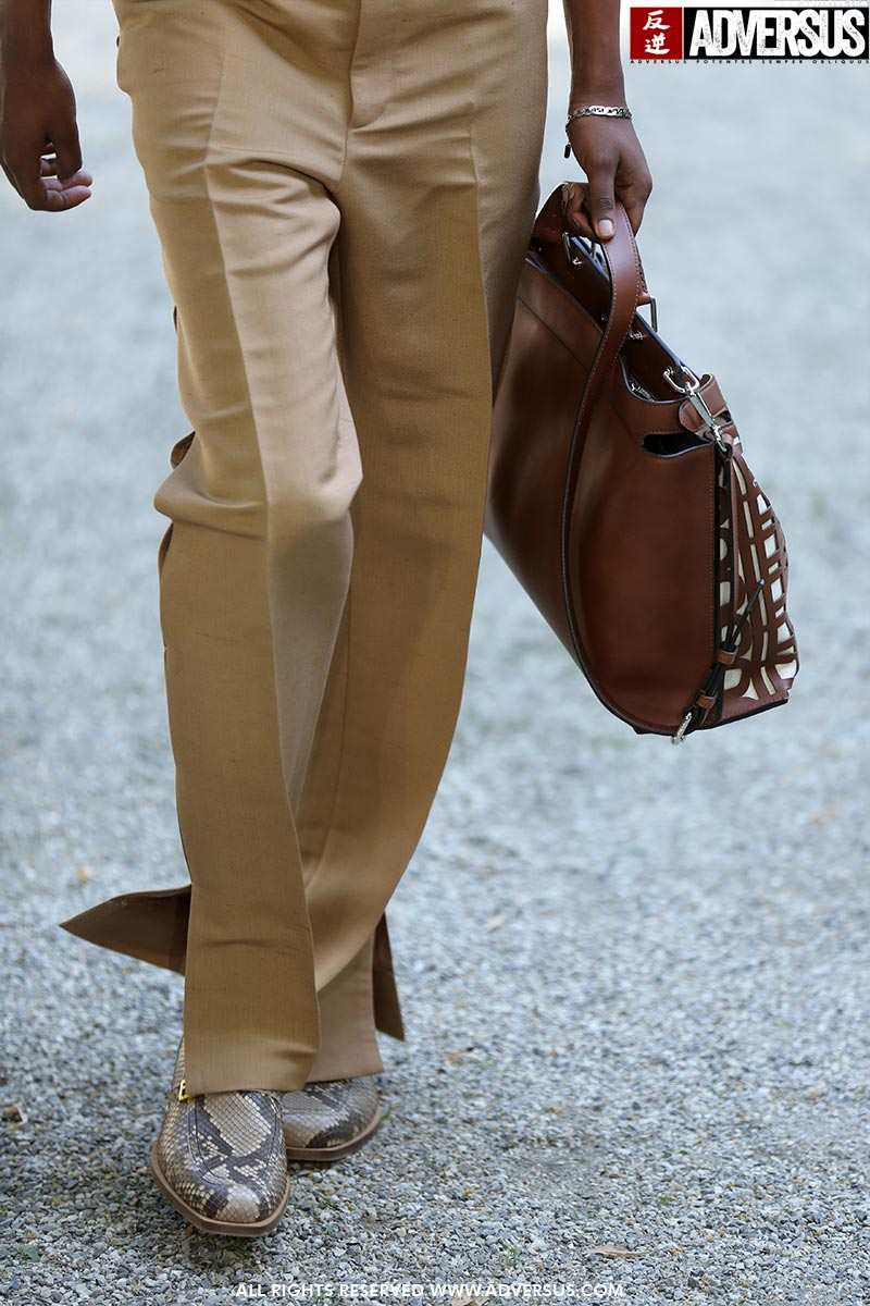 Tendenze moda scarpe uomo primavera estate 2020. Sfilata: Fendi. Foto: Mauro Pilotto