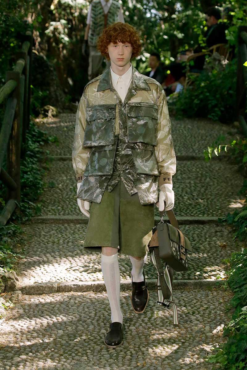 Moda uomo estate 2020. Grandi tasche per lui, la moda uomo primavera estate 2020 - Sfilata: Fendi