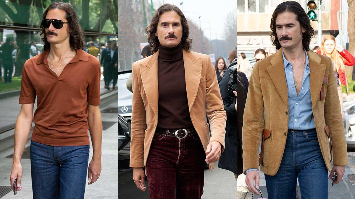 La moda uomo primavera 2020. Evviva gli anni '70, guardate le nostre foto street style - Foto Charlotte Mesman