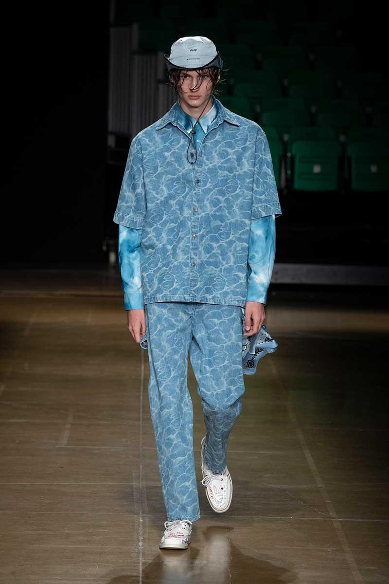 Tendenze moda estate 2020 - Double denim - Sfilata MSGM Estate 2020