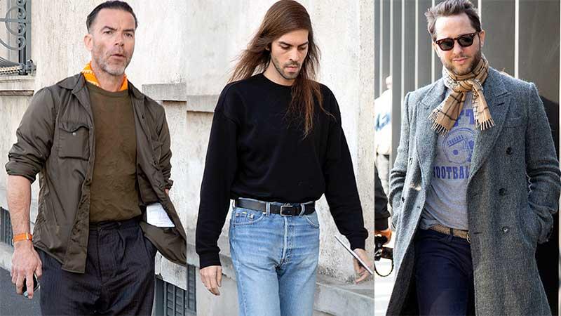 Streetstyle moda uomo primavera 2020. Foto: Charlotte Mesman