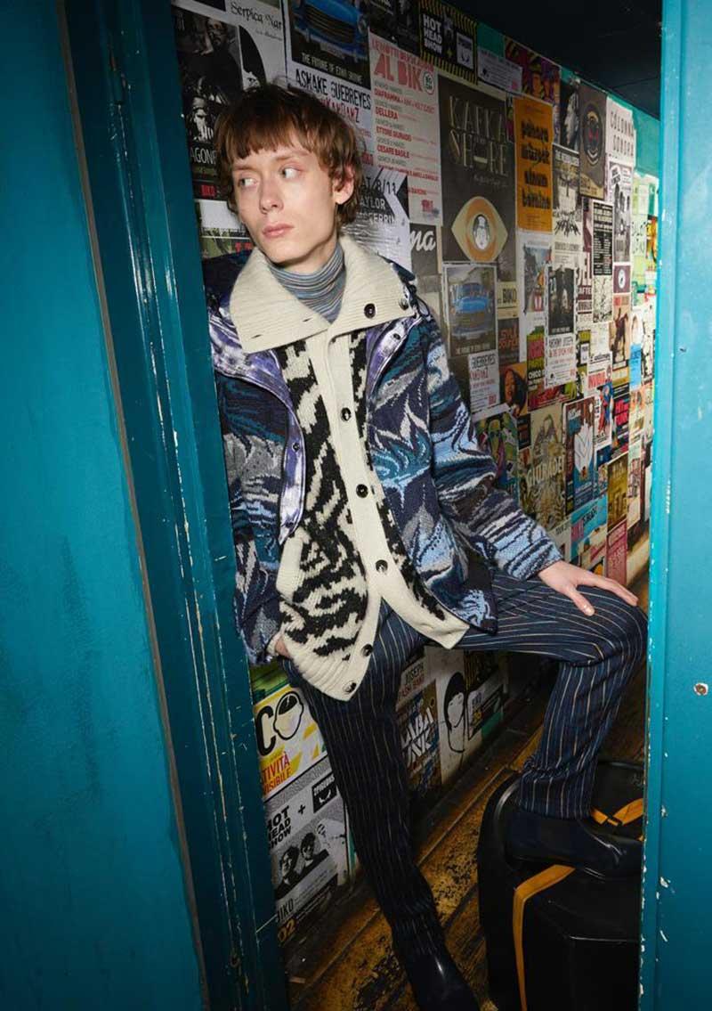 Tendenze moda uomo inverno 2020 2021. Hip: stile British e anni settanta - Foto courtesy of Missoni