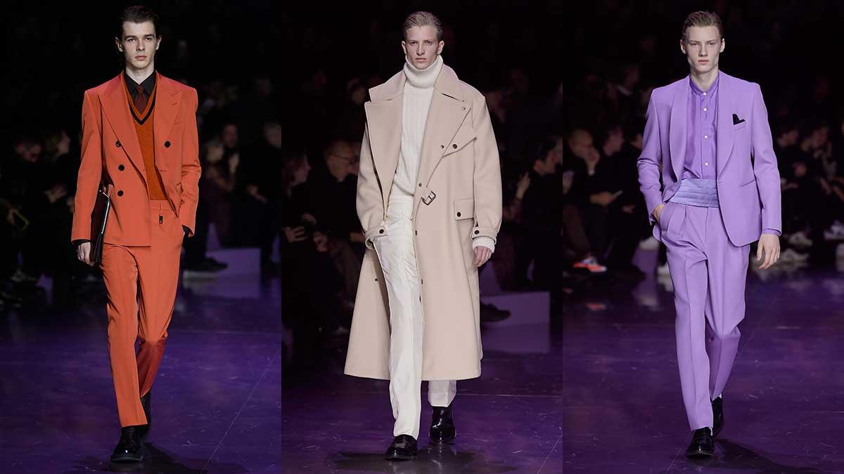 Tendenze moda uomo autunno inverno 2020 2021. Vestiti dello stesso colore dalla testa ai piedi - Foto Hugo Boss