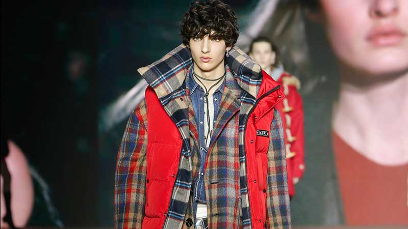 Tendenze moda uomo autunno inverno 2020 2021. Un trendy mix di stili (contrastanti) - Foto Dsquared2