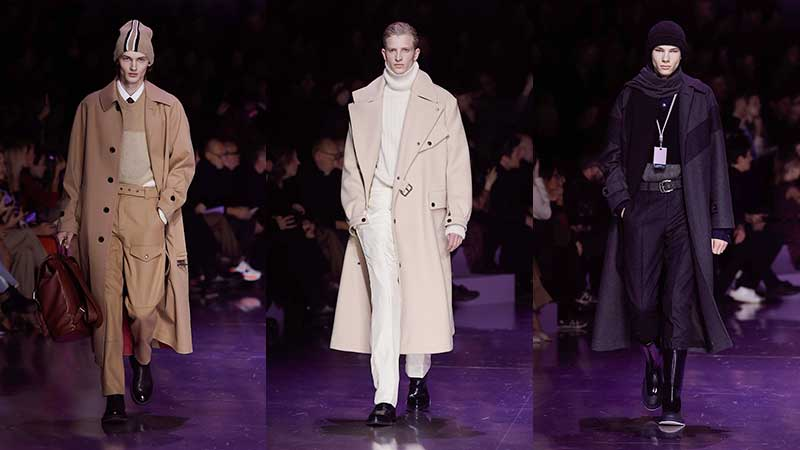 Tendenze moda uomo inverno 2020 2021. Tornano i cappotti lunghi da uomo. Photo courtesy of Boss