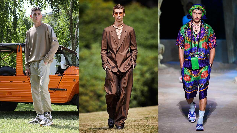 10 nuovissime tendenze moda uomo primavera estate 2021. 10 trends che devi conoscere. Photo: Iceberg, Ermenegildo Zegna, Versace