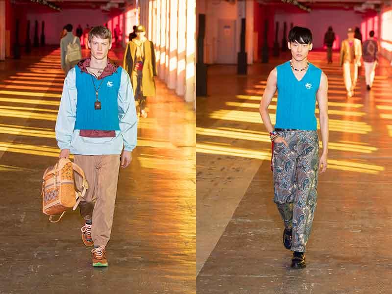 Tendenze moda uomo 2021. La Spencer è assolutamente trendy. Ecco come indossarlo - Photo Courtesy of Etro AI 2021 2022