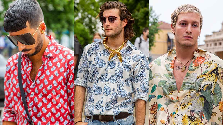 Street style moda uomo 2021. La camicia è la nuova giacca per l'estate - Foto Charlotte Mesman